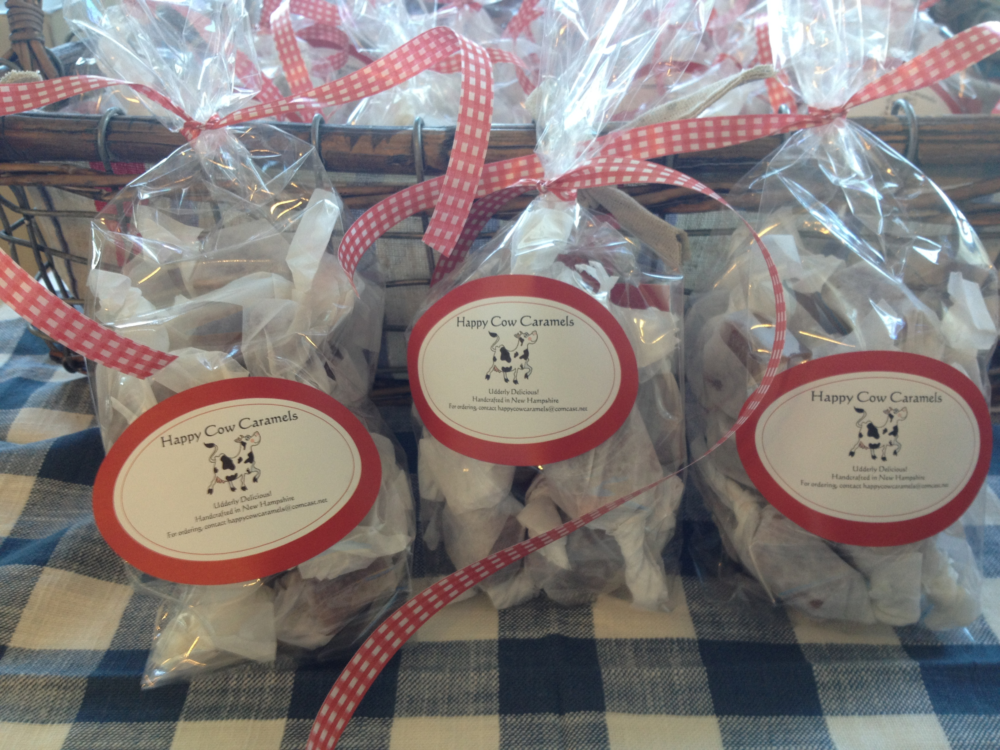 Happy Cow Caramels - 12 piece bags